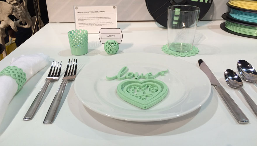Martha Stewart 3D printed place setting