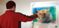 Physical Painting with a Digital Airbrush
