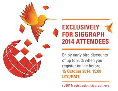 SIGGRAPH Asia 2014 Discount
