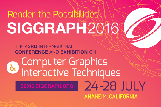 SIGGRAPH 2016 Advance Program