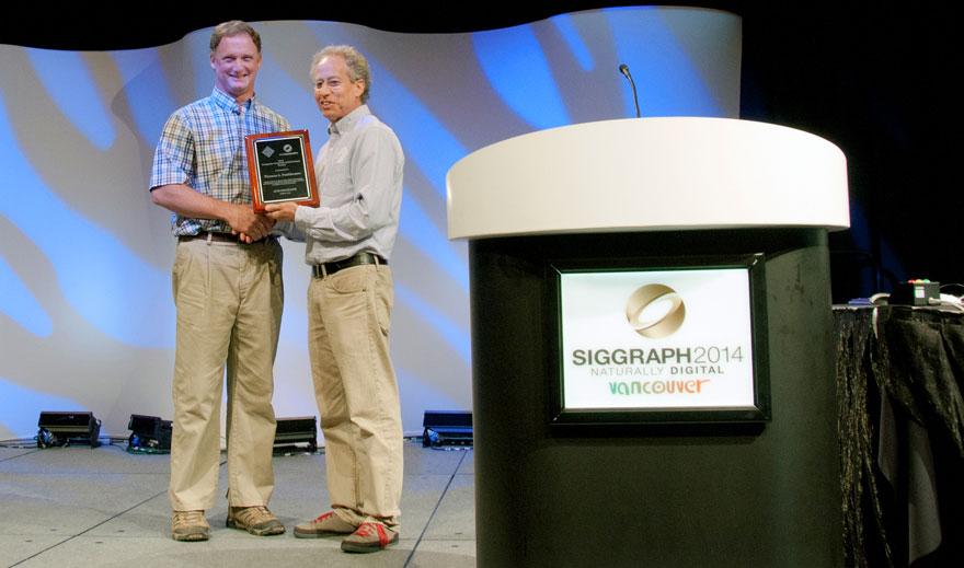 Thomas Funkhouser receives his computer graphics achievement award