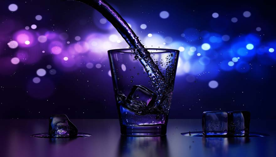 A drink being poured