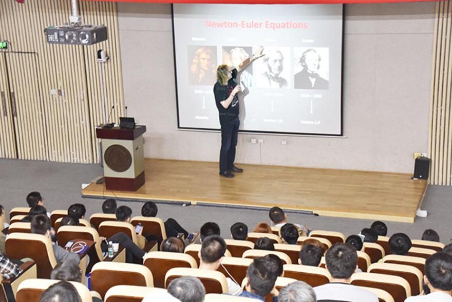 Jos Stam presents at the Shenzhen workshop
