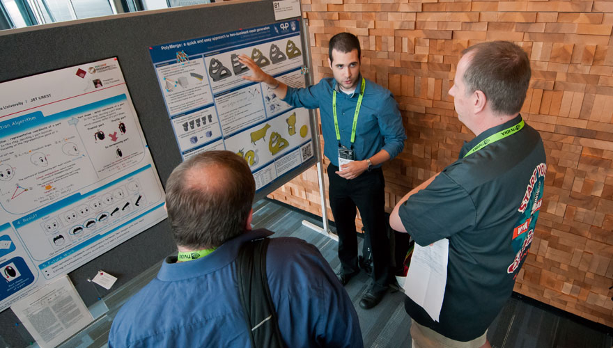 Student Research Competition participant at SIGGRAPH 2014