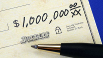One million dollar check.