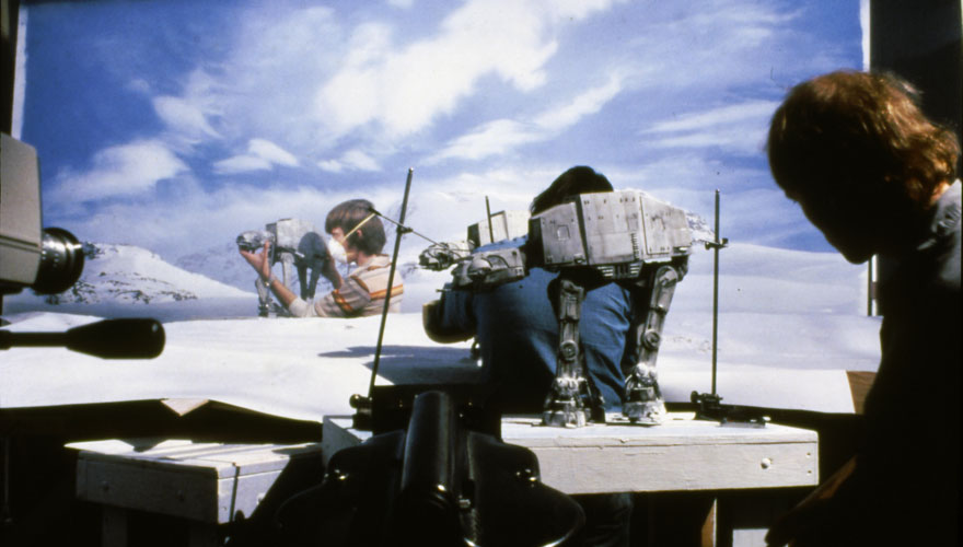 Models used in the battle on Hoth in Star Wars Episode V