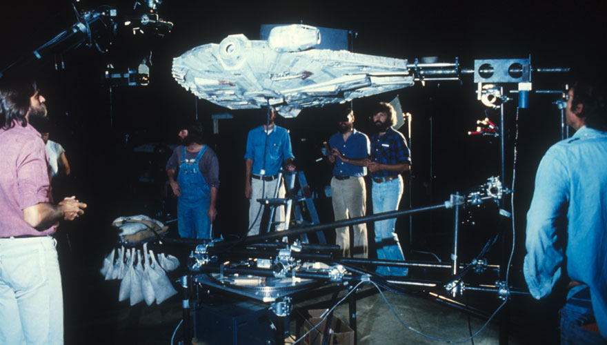 "Model building during ""Star Wars: Empire Strikes Back"""